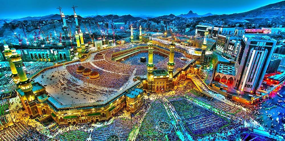 Mekka e bukur blue wallpaper